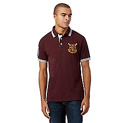 St George by Duffer - Big and tall dark red logo stitch polo shirt