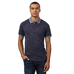 Red Herring - Navy textured collar polo shirt