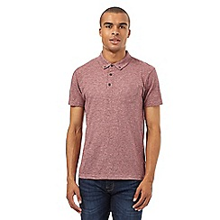 Red Herring - Dark red textured polo shirt