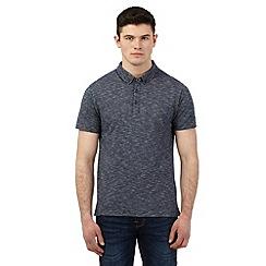 Red Herring - Navy stripe textured polo shirt