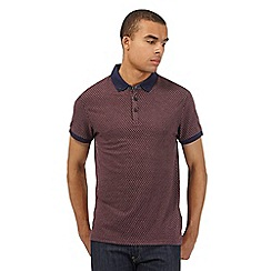Red Herring - Dark red spotted jersey polo shirt