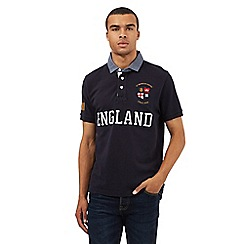 St George by Duffer - Big and tall navy large logo polo shirt
