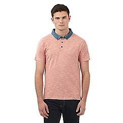 Red Herring - Orange denim collar polo shirt