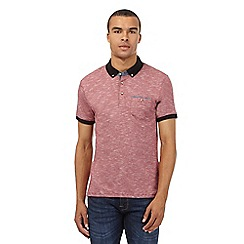 Red Herring - Red striped jersey polo shirt