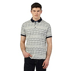 Red Herring - Grey textured broken stripe polo shirt