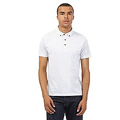 Red Herring - White patterned jersey polo shirt