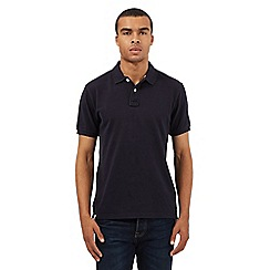 St George by Duffer - Big and tall navy embroidered logo polo shirt
