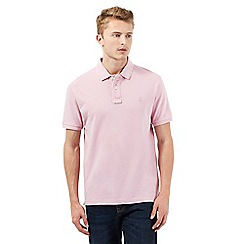 St George by Duffer - Big and tall pink short sleeved polo shirt