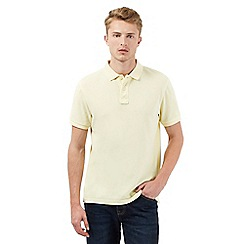 St George by Duffer - Big and tall yellow short sleeved polo shirt