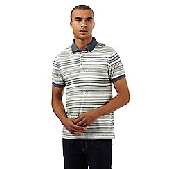 Red Herring - Yellow jacquard striped polo shirt