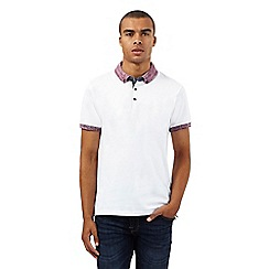 Red Herring - White space dye collar polo shirt