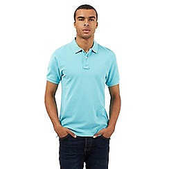 St George by Duffer - Turquoise embroidered logo polo shirt