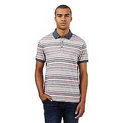 Red Herring - Red jacquard striped polo shirt