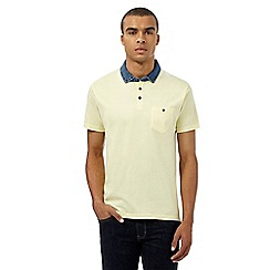 Red Herring - Yellow denim collar polo shirt