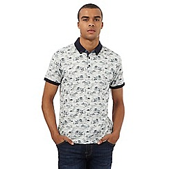Red Herring - Off white Hawaiian print polo shirt