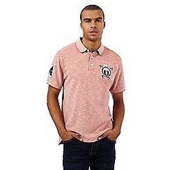 St George by Duffer - Big and tall pink logo applique polo shirt