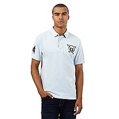 St George by Duffer - Big and tall light blue logo applique polo shirt