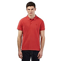 Red Herring - Red pique logo polo shirt