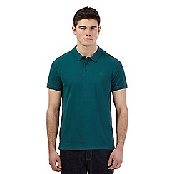 Red Herring - Dark green pique logo polo shirt