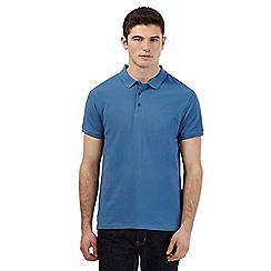 Red Herring - Blue pique logo polo shirt