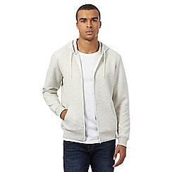 Red Herring - Cream marl quilted hoodie