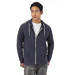 Red Herring - Navy ribbed hoodie
