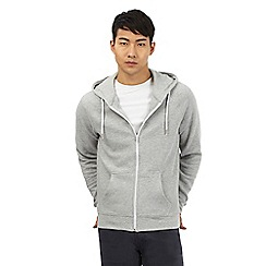 Red Herring - Grey ribbed hoodie