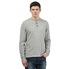 St George by Duffer - Big and tall grey textured striped top