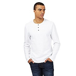 Red Herring - White ribbed granddad top