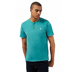 St George by Duffer - Dark green regular fit granddad t-shirt