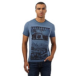 Red Herring - Navy 'Los Angeles' print t-shirt