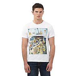Red Herring - White meerkat boat party print t-shirt