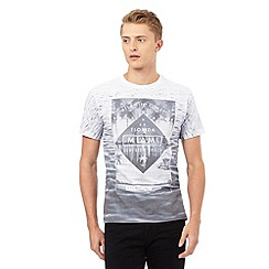 Red Herring - Grey and white 'Miami Surfside Beach' print t-shirt