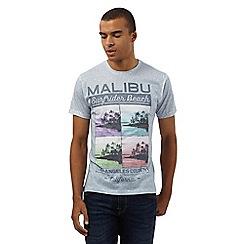 Red Herring - Grey 'Malibu' print t-shirt