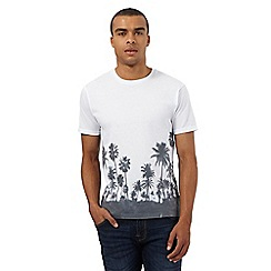 Red Herring - White palm tree print t-shirt