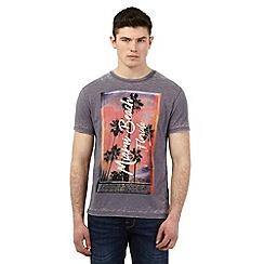 Red Herring - Grey 'Miami Beach' print t-shirt