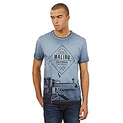 Red Herring - Blue Malibu print t-shirt