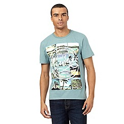 St George by Duffer - Green Hawaii print t-shirt