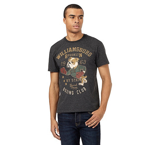 St george by duffer big and tall grey boxing dog print t for Big and tall printed t shirts