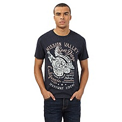 St George by Duffer - Navy fleck 'Mission Valley' print t-shirt