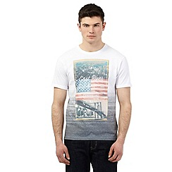 Red Herring - White 'Brooklyn' print t-shirt