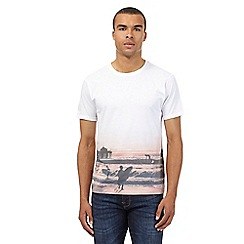 Red Herring - White sunset surfer printed t-shirt