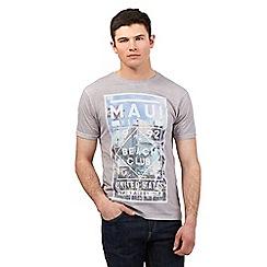 Red Herring - Grey 'Hawaii' print t-shirt