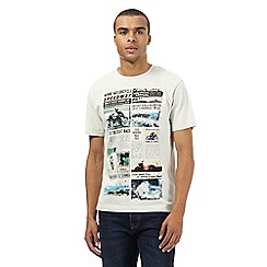 St George by Duffer - Off white speedways news print t-shirt
