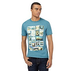 St George by Duffer - Dark turquoise photo collage print t-shirt