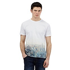 Red Herring - White 'New York' shutter print t-shirt
