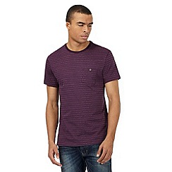 Red Herring - Purple jacquard spotted t-shirt