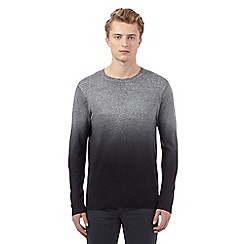 Red Herring - Black ombre-effect crew neck jumper