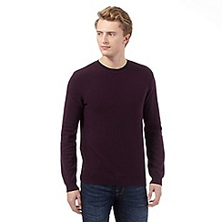 Red Herring - Purple textured square jumper
