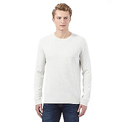 Red Herring - Off-white textured crew neck jumper